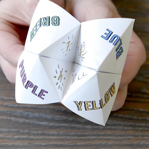 Как сделать гадалку из бумаги своими руками поэтапно