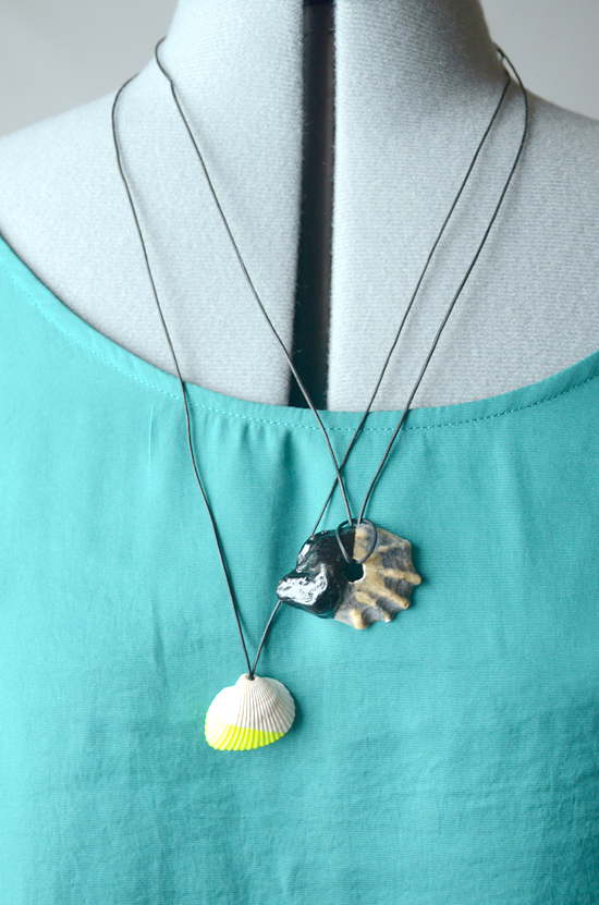 diy dipped shell necklace i still you by