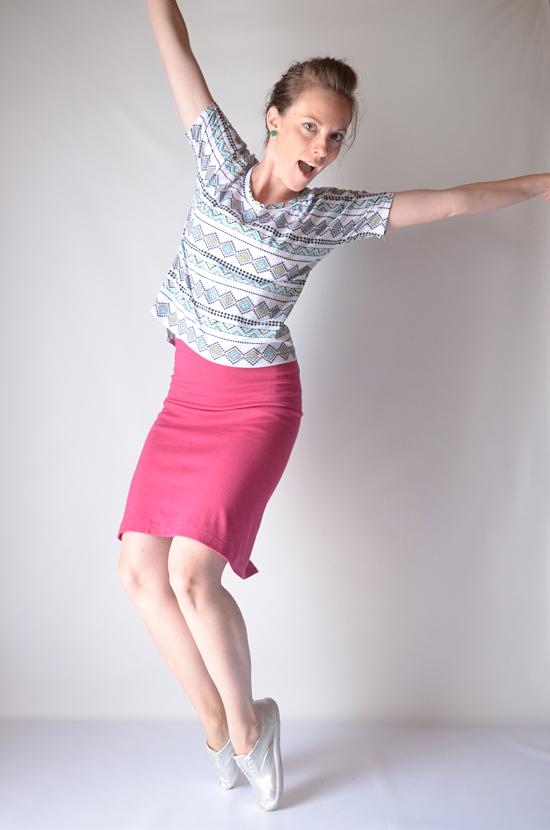 Jersey Knit Skirt Pattern : Tutorial: Single Seam Skirt - I Still Love You by Melissa Esplin