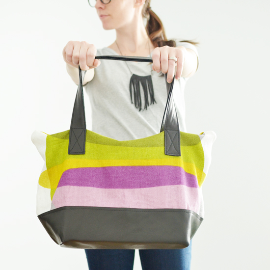 http://melissaesplin.com/2012/08/sewing-ikea-tote-sewing-leather/